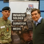 Philip Dunne MP with Sgt Colin Gordon from the Army Careers office in Shrewsbury