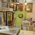 Frame-maker Phil Childs, of Framewerk in Shrewsbury Market Hall.
