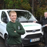 Tom Rushworth with contract manager Paul Hotchkiss