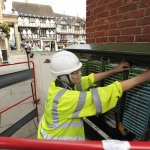 Openreach engineer Danielle Baugh connecting customers in Ludlow as part of the Connecting Shropshire project