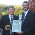 Robin Melley and Gary Matthews of Matrix Capital celebrate their success