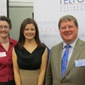 Telford Business Partnership Chairman Robin Melley with guest speakers Helen Culshaw (left) and Jan Minihane