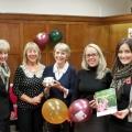 Wace Morgan staff at the buffet, from left Anita Edge, Julie Rowlands, Diana Packwood, Marina Hadorik and Sian Beckett