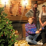 Jonathan Soden of the Big busk committee; Gareth Rhys Jones - Songwriter and musician; Lee Maddox - Head Chef at the Boathouse Inn