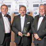 Pictured with their award are company directors, from left, David French, Anthony Randall and Alan Bowyer