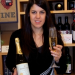 Manager Nadine Roach with Sparkling English wine from their 2012  vintage