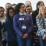 Some of the students that took part in the Women In Science And Engineering event at Telford College