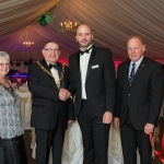 The Shropshire General Manager, Stuart Perry, (centre right) welcomes the Mayor of Telford and Wrekin, Malcolm Smith, (centre left) to the new marquee alongside his wife Christine and Club President, Peter Haile