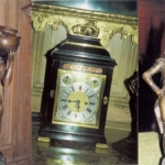 Images of the stolen carriage clock and two statues, all collectively worth thousands of pounds