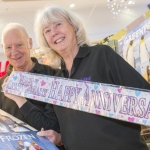 Celebrating 10 years in Telford Shopping Centre, are Warwick and Carol of the Calendar Club