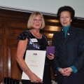 Chelmarsh Sailing Club's Elaine Westwood with The Princess Royal