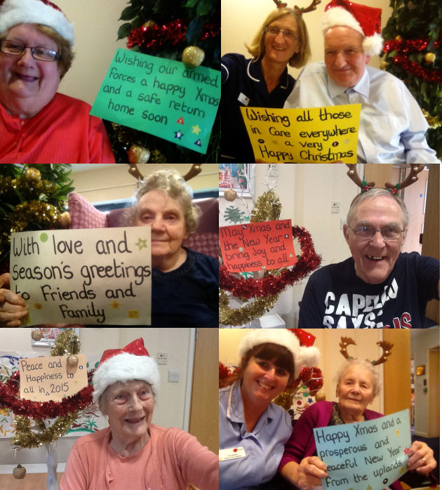 Care Home Residents join in the Selfie craze for Christmas