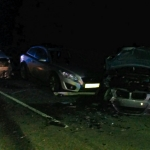 The scene of the collision on the A489 near to Bishops Castle. Photo: West Midlands Ambulance Service