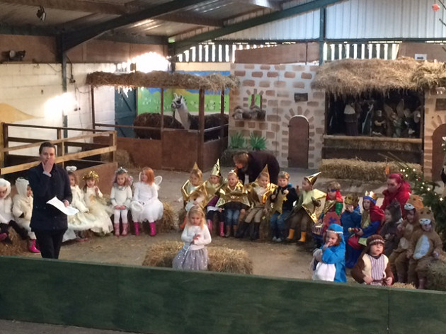 ABC   Hoo held their nativity in a barn at Hoo Farm with real animalsReal Barn With Animals