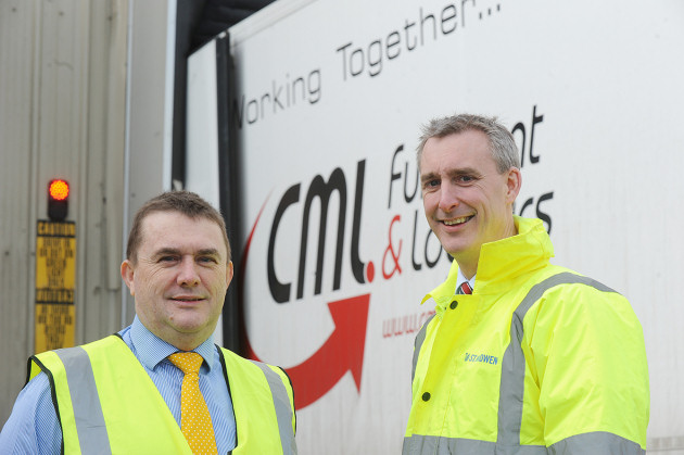 Tim Middleham, chief executive of CMLF & L (Telford) Limited (left), and Jonathan Green, development surveyor at St. Modwen (right), at Brockton Business Park