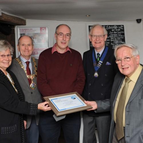 Recognition for retiring Bridgnorth Chamber president