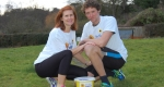 Catherine and Jack Buckley of Shrewsbury who are running the London Marathon. Photo: Mia Tivey