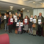 Over 20 library support group members travelled to Shirehall