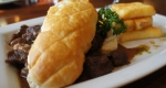 Steak & Ludlow Ale Pie at the Crown Inn Hopton
