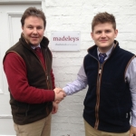 Madeleys Founder and Director Paul Madeley with Tom Bayliss