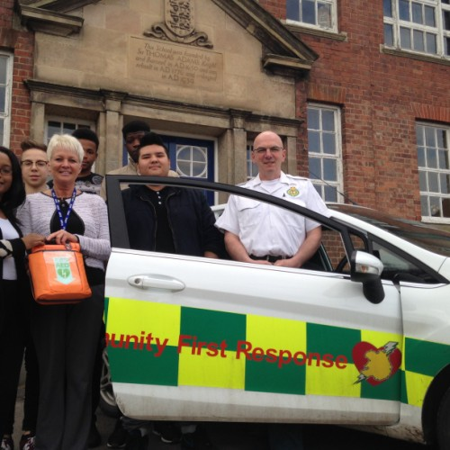 Defibrillator installed to help boarding school students in Shropshire