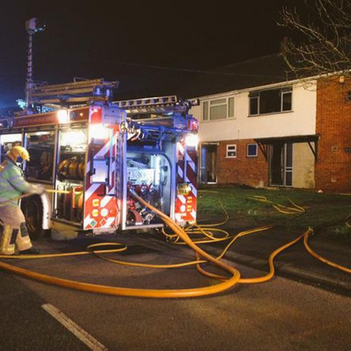 Firefighters tackle fire at empty home in Telford