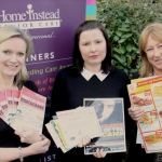 Jenny Ballantine, of Home Instead Senior Care, and public protection officers Paulina Poplawska and Debbie Cooper with some typical mailshot scams and the campaign booklet