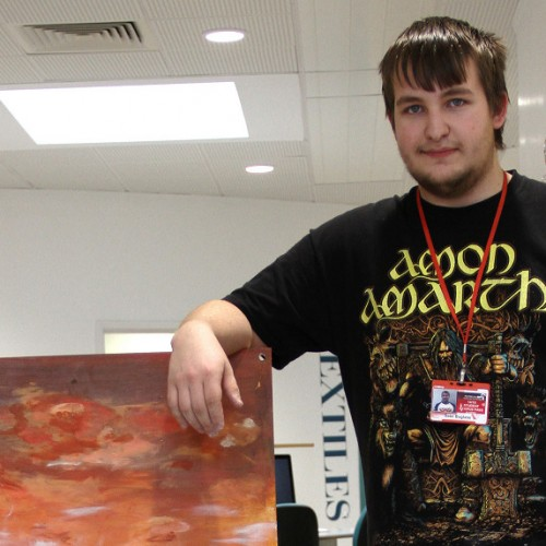 Telford College art students make their mark in Manchester