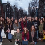 Thomas Adams students and staff in Amsterdam