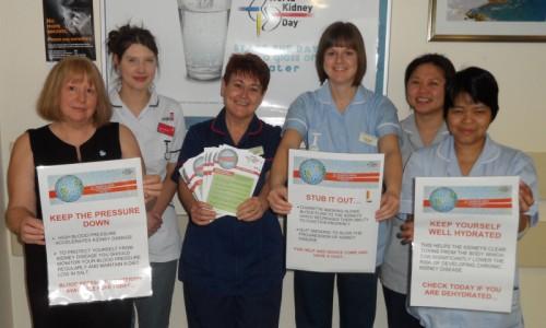 Trust staff to mark World Kidney Day