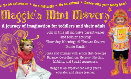 New creative classes for toddlers at Theatre Severn