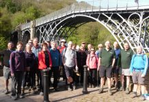 Ironbridge Gorge Walking Festival walkers at the Iron Bridge