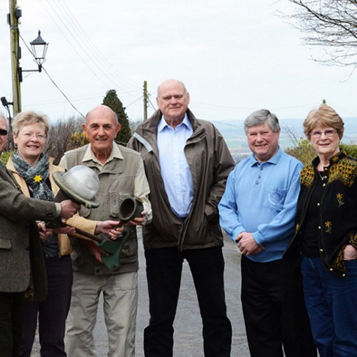 Stylish street lights unveiled at Shropshire village