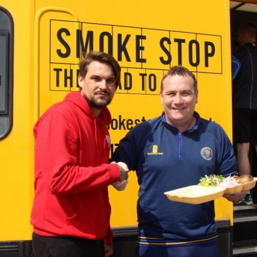 Smoke Stop serves up a treat to Shrewsbury Town squad