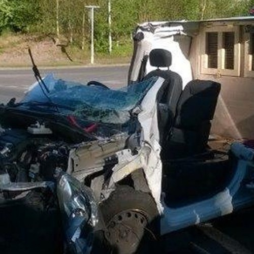 Two injured as van and lorry collide in Telford