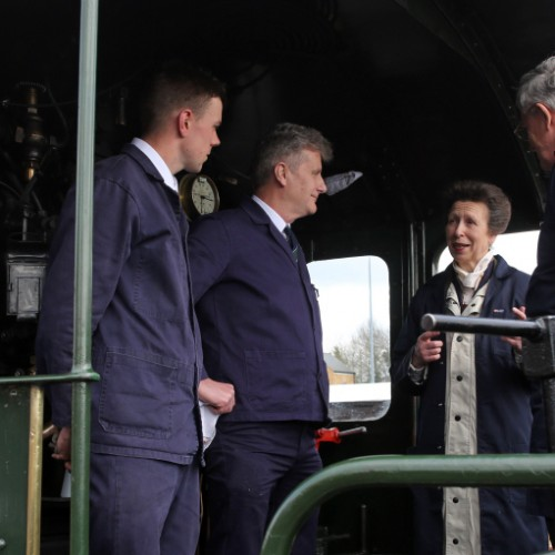 Princess Royal enjoys footplate journey on Severn Valley Railway