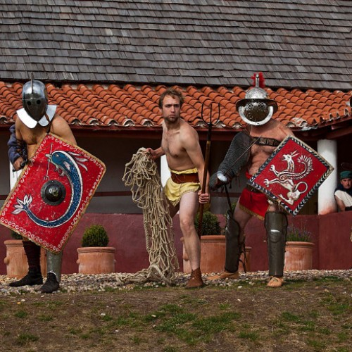 Superstar Gladiators at Wroxeter Roman City