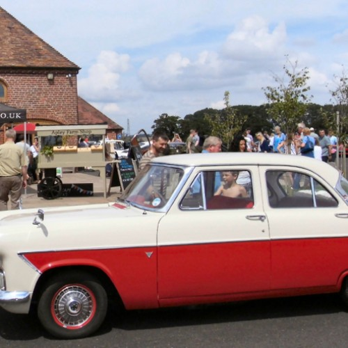 A treat for Classic car and food lovers at Apley Farm Shop