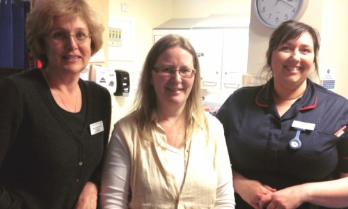 Whitchurch Mother thanks staff for saving her life during childbirth