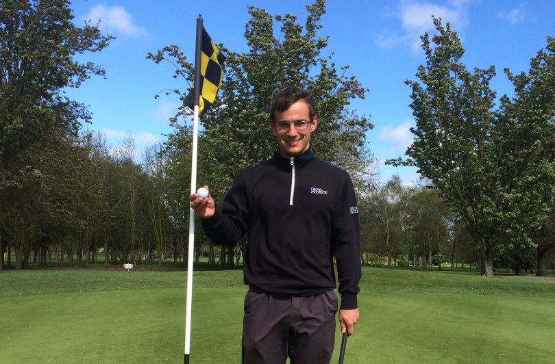 Will Sharpe who has had his third hole in one at Shrewsbury Golf Club