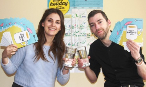 Charlotte and Dave celebrate national Dry January award