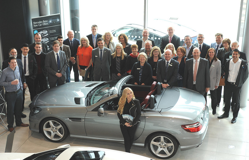 Rebecca Cannon (FRONT) Of Mercedes Benz Of Shrewsbury With Chamber Of  Commerce Members