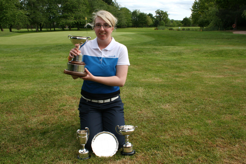 Katrina Gillum scoops three trophies in this year's Shropshire County Ladies' Championship