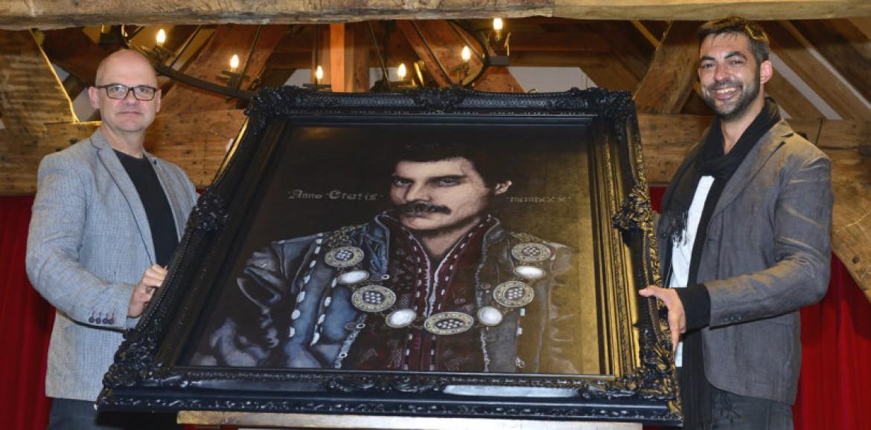 Rock hero Freddie Mercury gets Tudor twist in Shrewsbury