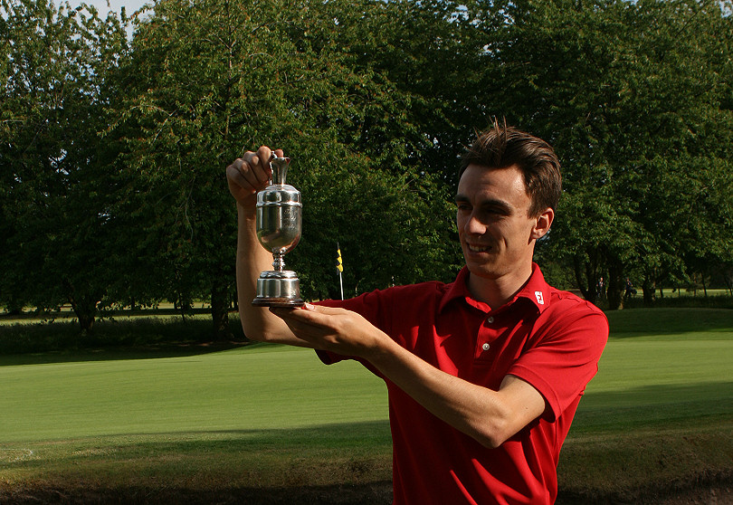 Josh Charnock who has won the PGA Order of Merit for Shropshire and Herefordshire