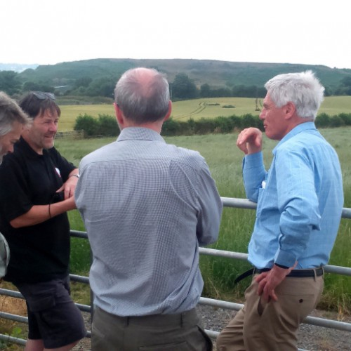 Legal expert makes fact-finding visit to threatened Old Oswestry hillfort