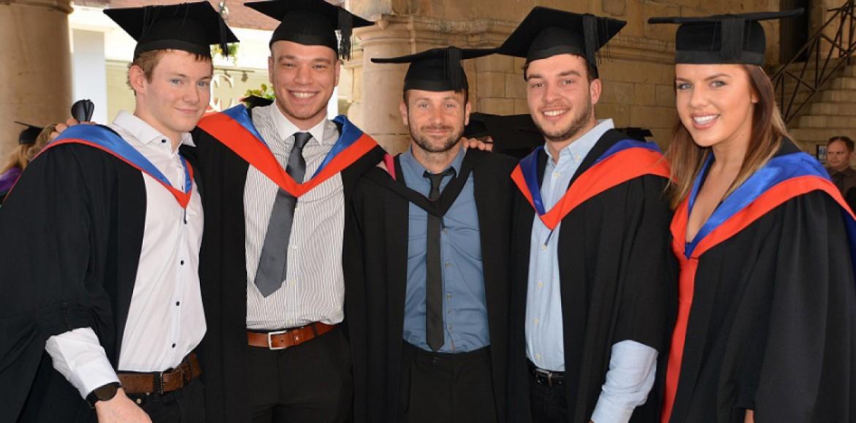Shrewsbury College students take part in graduation ceremony