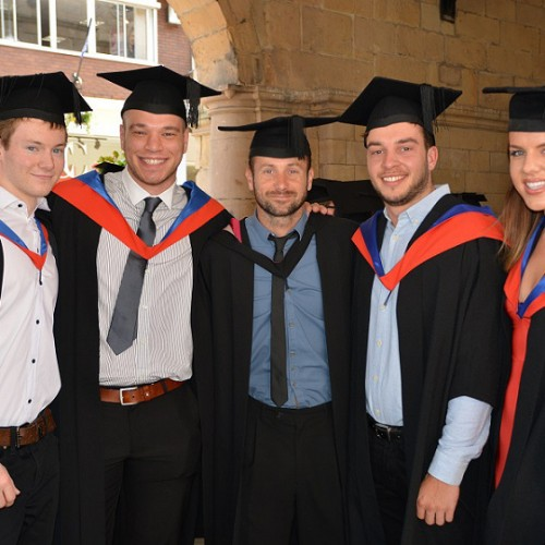 Shrewsbury College students take part in graduation ceremony