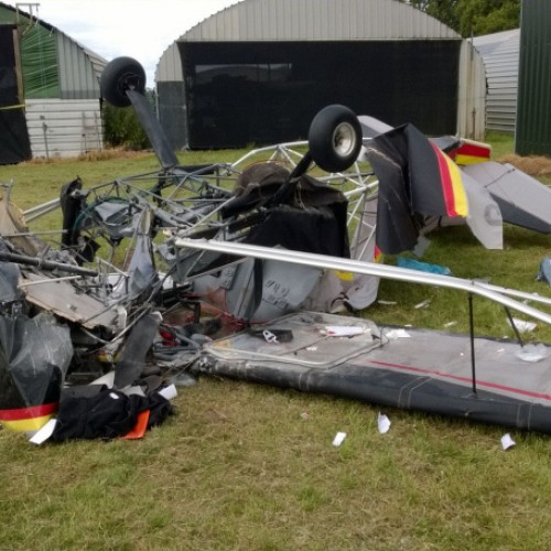 Quick actions save lives of two people as light aircraft crashes at Shifnal airfield