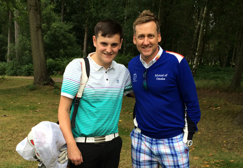 Joe Sherratt with Ian Poulter